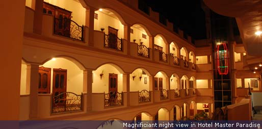Magnificient night view in Hotel Master Paradise